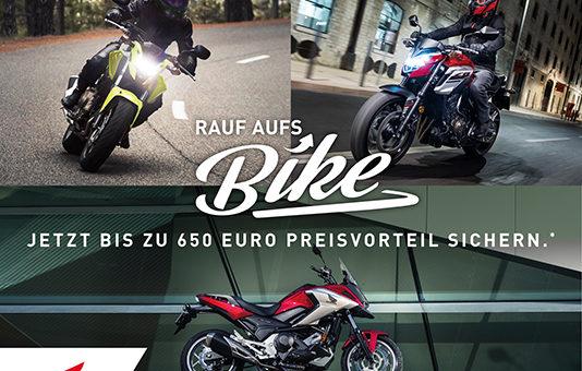 Rauf aufs Bike – jetzt bis zu 650 Euro Preisvorteil sichern.*